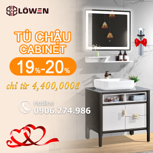 Sale bộ tủ chậu cabinet LOWEN