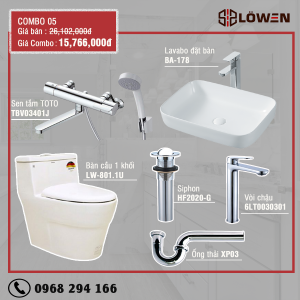 Phòng combo LOWEN 05 - combo kết hợp cao cấp