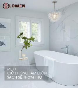 Mẹo giữ phòng tắm sạch sẽ thơm tho